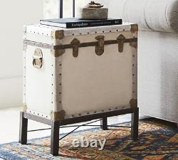 Pottery Barn Ludlow Antique End Trunk Table with Stand