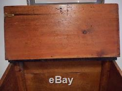Primitive Firewood Box Slant Front Wooden Trunk Rustic Old Country Farmhouse