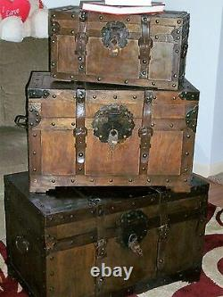 Rustic, Western Wood Storage Hope Chest Trunk