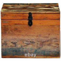 Rustic Wooden Chest Storage Trunk Wood Large Box Blanket Book Shoes Toys Case