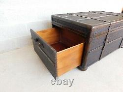Schnadig Decor Leather Wrapped Trunk Coffee / Cocktail Table