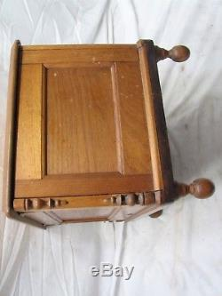 Small Early Hand Made Wooden Chest Trunk Footed Wood Stool