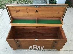 Solid Wood Blacket Chest with fold up Tray & push button lock LANE Alavista VA