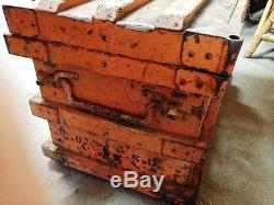 Steampunk Railroad Industrial wood Iron Trunk Chest Coffee table old paint