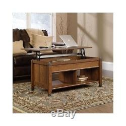 Storage Trunk Coffee Table Lift Top Shelf Organizer Wood Furniture Antique Decor