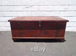 Trunk Hope Chest French Country Farmhouse Bench Entry Way Cottage Furniture Wood