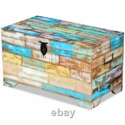 US Solid Reclaimed Wood Storage Chest Box Trunk Coffee Side Couch Table Boxes