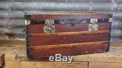 Vintage Antique French Steamer Trunk Circa 1890s
