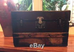 Vintage Antique Victorian Steamer Trunk Newly Restored Smaller Size 16 Inches