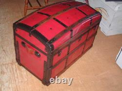 Vintage Camelback Trunk, Coffee Table, Storage Chest 35 X 24 X 20