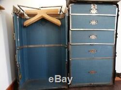 Vintage Early 1900's Wardrobe Steamer Trunk Travel Chest