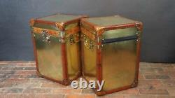 Vintage Inspired Brass Campaign Chests Side Tables Trunks Home Decor Royal Gift