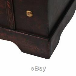 Vintage Living Room Treasure Chest Wood Storage Trunk Organizer Box Side Stand