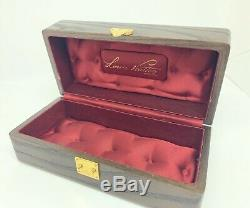 Vintage Louis Vuitton Wood Box Jewelry Watch Mini Trunk