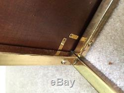 Vintage Mastercraft Wood and Brass Campaign Chest Trunk