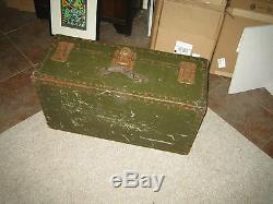 Vintage Old Military Trunk Wwii