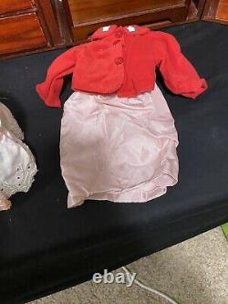 Vintage Pleasant Company 18 American Girl Doll & Wood Murphy Bed Trunk