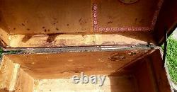 Vintage Steamer Trunk Dome Top 1800's Antique Chest
