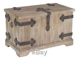 Vintage Storage Trunk Antique Wooden Blanket Chest Barn Wood Coffee Table Rustic