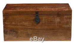Vintage Storage Trunk Antique Wooden Blanket Chest Reclaimed Wood Coffee Table