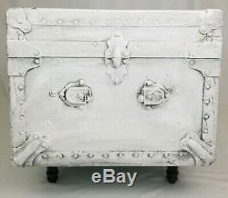 Vintage Storage Trunk Coffee Table Wood And Metal Rustic Farmhouse Industrial