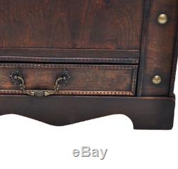 Wood Treasure Chest Vintage Coffee Table Storage Trunk Antique Pirate Box Drawer