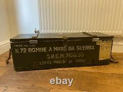 Wooden Army Ammo Box Vintage 1987 Rustic Industrial Chest Trunk Coffee Table