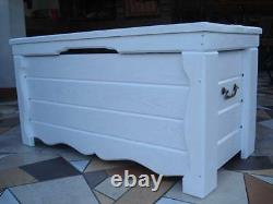 Wooden Blanket Box Coffee Table Trunk Vintage Chest Wooden Ottoman Toy (GO1)