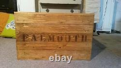 Wooden Chest Trunk Blanket Box Coffee Table Vintage Style TV Stand Rustic