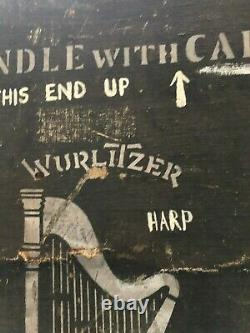 Wurlitzer Antique Harp Concert Trunk, Early 1900s, Old, Wood, History, Rare, Case